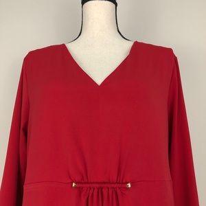Michael Kors Dresses - Michael Kors Gathered Jersey Knit LS Dress